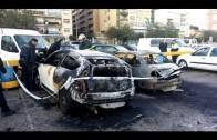 Bomberos sofocan un incendio de un vehículo en el Llano Amarillo