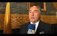 El alcalde recibe al algecireño Jorge Fernández, campeón de Europa de sanshou