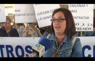 Los trabajadores de la limpieza del hospital niega actos vandálicos durante la huelga