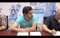 Rodríguez Ros informa a la oposición sobre los trabajos para reparar el parquet del pabellón