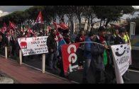 La plantilla de SAM  Algeciras se concentra contra los impagos de salarios y un despido