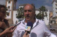 Landaluce ofrece su colaboración para buscar una base definitiva para el helicóptero del CNP que presta ya servicio en Algeciras