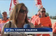 Los trabajadores de playas han comenzado las movilizaciones para exigir un nuevo convenio