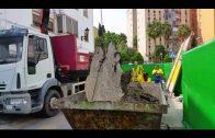 Continúan los trabajos de limpieza del colector de Jacinto Benavente