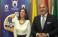 Landaluce recibe a la artista algecireña Mari Carmen Molina