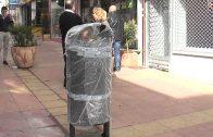 El ayuntamiento instala nuevas papeleras en la calle Prin