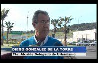 El delegado de Urbanismo supervisa las obras de asfaltado en el Cortijo Real