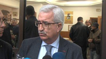 Jiménez Barrios mantiene un encuentro con los militantes socialistas de Algeciras