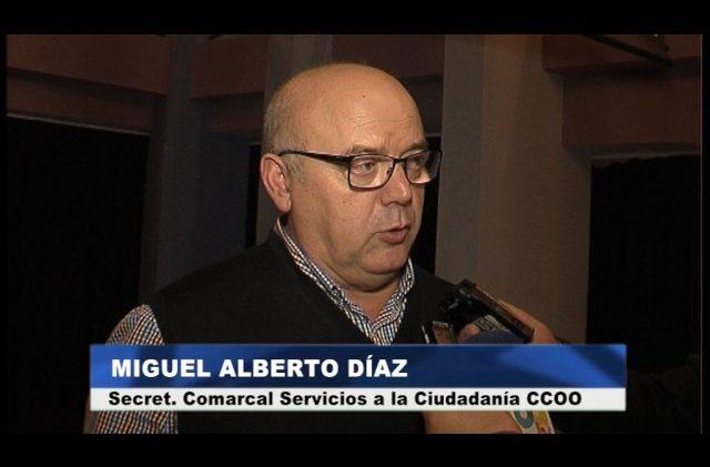 Miguel Alberto Díaz estará al frente de la secretaría comarcal de Servicios a la Ciudadanía de CCOO