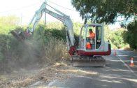 El Grupo Municipal PSOE reclama el desbroce inmediato de la carretera del Faro