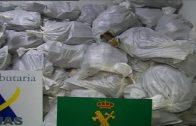 Las Aduanas de España y Francia aprehenden 2,3 toneladas de hachís durante la operación Pascal 2017