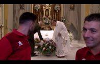 El Algeciras CF realiza la tradicional ofrenda floral a la Virgen de la Palma