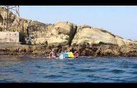 Cuatro nadadores sevillanos cruzan el Estrecho para concienciar sobre la fibrosis quística