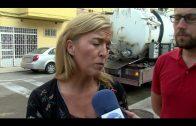 Se realiza una limpieza preventiva de la red de recogidas de pluviales en la calle Jacinto Benavente