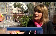 Continúan las obras de resturación de la fuente de la Plaza Alta