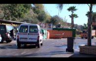 Bomberos intervienen en un incendio declarado en un punto de limpio de Algeciras
