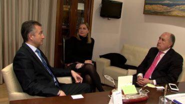 Landaluce recibe al nuevo director de Onda Cero en Algeciras