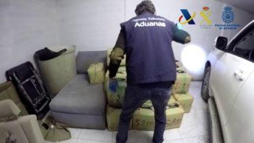 Agencia Tributaria, Guardia Civil y Policía Nacional incautan  2.500 kilos de hachís en La Línea