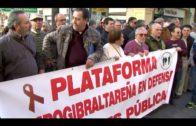Unas 150 personas se concentran en Algeciras para reclamar al Gobierno la subida de las pensiones