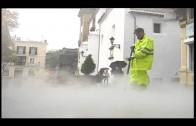 Algesa acomete una campaña de limpieza especial en las calles de los recorridos de Semana Santa