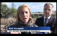 Pajares supervisa el estado de la desembocadura del Cachón