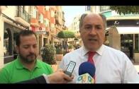 El alcalde visita la calle Castelar donde han comenzado los trabajos para su embellecimiento