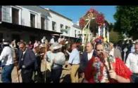 Landaluce acompaña a los rocieros algecireños en la presentación del Simpecado ante la Virgen