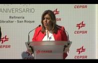Susana Díaz destaca el compromiso de la Junta con Cepsa en su 50 aniversario en San Roque