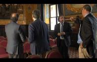 Landaluce recibe al nuevo director del diario Europa Sur
