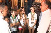 Landaluce recibe a los medallistas algecireños en el Campeonato Internacional de Wushu