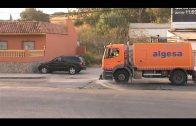 Algesa desbroza los márgenes de la avenida Aguamarina