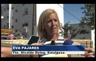 Las obras de saneamiento en la urbanización Averroes acabarán antes de fin de mes