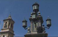 Los trabajos de restauración en la Plaza Alta, más cerca de su finalización.