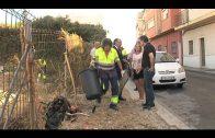 El alcalde supervisa la limpieza y desescombro de una parcela en Alexander Henderson
