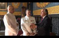 El comandante naval de Marina se despide del alcalde