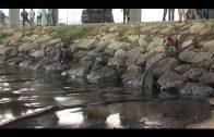 El subdelegado visita a primera hora de la mañana zonas del litoral afectadas por el vertido