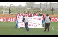 El Algeciras C.F. protesta contra la Seguridad Social antes del encuentro ante el Sevilla C
