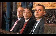 Landaluce recibe en el Ayuntamiento a una delegación de la Comisión de Interior del Senado