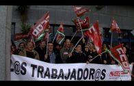 Concentración por la libertad sindical y en defensa de los trabajadores de Balearia