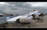 El Panagia Parou, un ferry de origen Griego, se hunde en el Puerto de Algeciras