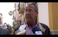 El alcalde supervisa las obras de mejora que se ejecutan en la calle Libertad