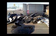 La Guardia Civil detiene a dos personas con 4 vehículos desmontados sustraídos en Francia