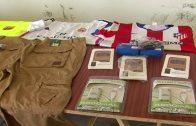 La Guardia Civil interviene 1.120 prendas deportivas falsificadas.