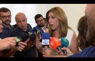"""Susana Díaz visita la exposición """"La vuelta de Willy Fog con Apadis Bahía de Algeciras"""""""
