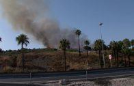 El Infoca da por controlado el incendio declarado cerca de Doña Casilda, en Algeciras