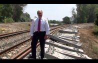 Landaluce valora que lleguen raíles y traviesas para renovar la vía de tren Algeciras-Almoraima