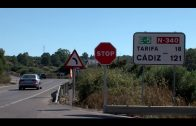 Bomberos intervienen en un accidente con varios vehículos implicados en Algeciras