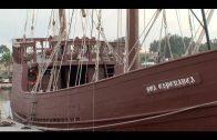 La carabela Boa Esperanza puede visitarse en el puerto deportivo hasta el domingo
