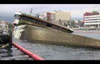 Avanzan los trabajos para reflotar el Panagia Parou, hundido en el puerto desde el mes de abril