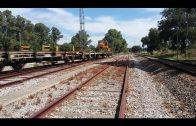 Landaluce visita distintos puntos de la comarca donde ya han comenzado las obras de mejora del tren